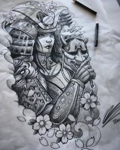 Amazing tomoe gozen female samurai art/sketch done. - - Amazing tomoe gozen female samurai art/sketch done… – - Irezumi Tattoos, Tatuajes Irezumi, Geisha Tattoos, Geisha Tattoo Design, Neue Tattoos, Body Art Tattoos, Sleeve Tattoos, 3d Tattoos, Japanese Tattoo Art
