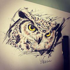 #owl #owltattoo #manuelitas10