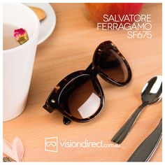 """Salvatore Ferragamo SF675 Known as the the """"shoemaker to the stars"""", Salvatore Ferragamo is a fantastic brand. Whether you want this pair in Black, Havana or Snow White, they're perfect for a 50s/60s-inspired look."""