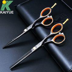 KAI YUE Professional 5.5 inch Hair Scissors High Quality Cutting Thinning Hair Shears Hairdressing Salon Scissors Set BJ55A