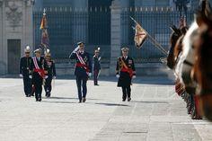 Sus Majestades los Reyes Felipe VI y Letizia presidieron en el Palacio Real de Madrid la Pascua Militar.  06-01-2017