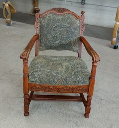 Here is a nice little Side Chair we did, good looking cover that was put on it. http://wardell-upholstery.com/