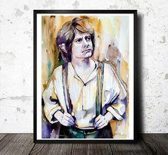 Bilbon Sacquet le Hobbit aquarelle impression par SlaviART sur Etsy, $25.00