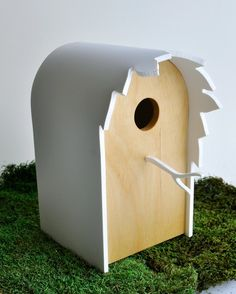 Modern Birdhouse  Canopy series in Birch by StudioLiscious on Etsy, $78.00