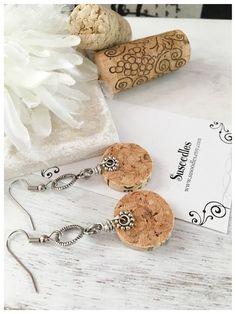 Wine Corks, Wine, Gifts, Earrings, Repurposed Jewelry, Repurposed Wine Corks, Dangle Earrings, Unique Jewelry, Anniversary Gifts