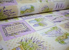 klariana /  Bavlnená látka - poťahovka - Provance, levanduľa