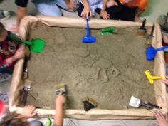 Dino party games digging field
