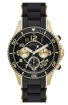 love men's watches! MARC BY MARC JACOBS 'Rock' Chronograph Silicone Bracelet Watch, 40mm available at #Nordstrom