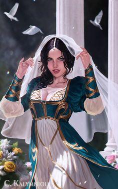 ArtStation - Damsel, Caterina Kalymniou Dark Fantasy Art, Fantasy Art Women, Beautiful Fantasy Art, Fantasy Girl, Fantasy Artwork, Fantasy Princess, Female Character Design, Character Design Inspiration, Character Art