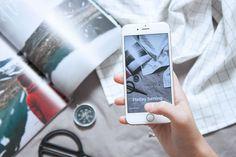 Instagram Stories vs. Snapchat Flatlay