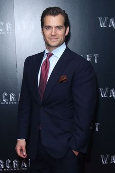 Henry Cavill Supports 'Warcraft' Cast at London Screening: Photo Henry Cavill suits up for the premiere of Warcraft held at the BFI IMAX on Wednesday (May in London, England. In attendance at the premiere were cast members… Superman Cavill, Henry Superman, Superman Baby, Henry Cavill News, Henry Williams, Suit And Tie, Celebs, Celebrities, Boyfriends