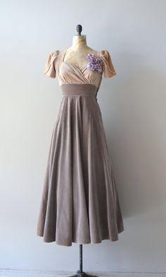 Bonne Chance dress 1940s velvet dress vintage 40s by DearGolden