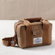 For the photographer / camper / hikder man in your life. Doubles as a lunch cooler and camera bag! Poler® Camera Cooler Bag #WestElm