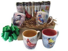 JCs Wildlife - JCS Gift Basket - Birds on the Go Mug Set, Stainless Steel Travel and Coffee Mugs, $92.50 (http://www.jcswildlife.com/home/jcs-gift-basket-birds-on-the-go-mug-set-stainless-steel-travel-and-coffee-mugs/)
