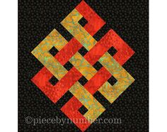 Eternity Knot quilt block, paper pieced quilt patterns, instant download, PDF pattern, celtic knot patterns, infinity knot, endless knot