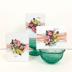 American Crafts We R Memory Keepers CMYK Layered Stamp Set Rose 4 Piece
