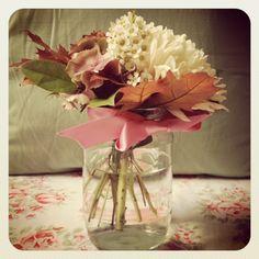 Poppy Loves: Craft project - Autumnal Jam Jar Flowers
