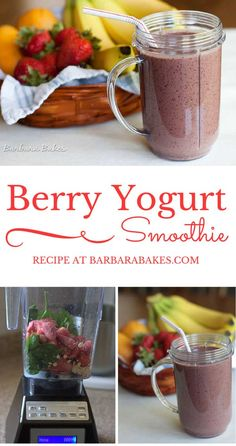 Berry Yogurt Smoothie - a delicious healthy way to start the day.