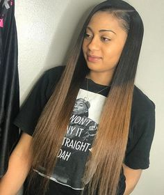 Hair inspiration Get this look by shopping Foreignstrandz. Using one of our many textures can help achieve this look, visit us on our website www.foreignstrandz.com ❤️ Bts Hairstyle, Sew In Hairstyles, Creative Hairstyles, Black Girls Hairstyles, Pretty Hairstyles, Straight Hairstyles, Real Hair Wigs, Look Girl, Natural Hair Styles