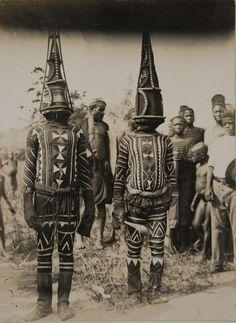 "ukpuru: "" [Greater Niger Series] "" Kwoho dancers "" Northcote Thomas, early 1900s, Edo region Nigeria """