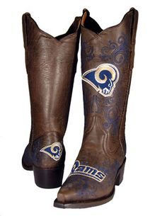 St. Louis Rams Women's Embroidered Western Boot I NEED THIS ASAP!!!!