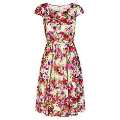 Buy Louche Mala Floral Print Dress, Multi Online at johnlewis.com