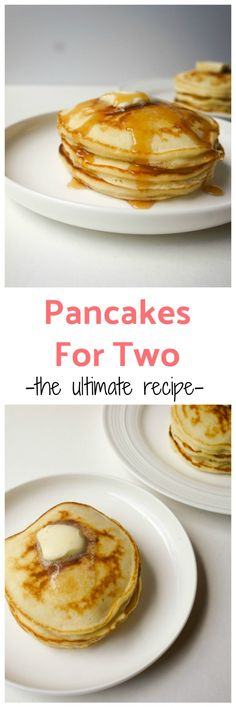 Recipes Breakfast Pancakes The best pancakes for two recipe (or single serving pancake recipe if you love these as much as I do! These are fluffy, thick, slightly sweet, quick and easy in under 10 minutes. The perfect thing to wake up to! Pancakes For Two, Pancakes Easy, Souffle Pancakes, Cheese Souffle, Fluffy Pancakes, Pancake Recipe For 2, Pancake Recipes, Thick Fluffy Pancake Recipe, Quick And Easy Pancake Recipe