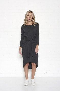 CARTEL & WILLOW - Noble Dress - Charcoal - My Friend Alice  - 1
