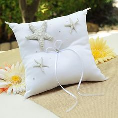 Beach Ring Bearer Pillow  Wedding  Wedding Decoration by WedLovely, $39.97