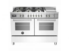 Buy The Bertazzoni Professional Double Oven Dual Fuel White Range Cooker From CookersAndOvens At A Fantastic Price. Next Day & Weekend Delivery Available MFE D BIT Electric Range Cookers, Dual Fuel Range Cookers, Electric Oven, Cooking Appliances, Kitchen Appliances, Stove With Griddle, Worktop Designs, Rotisserie Oven, Grill Oven