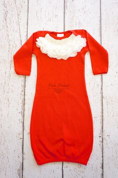 Possible take home outfit for Ridley since she's going to be born so close to Christmas. With a cute green and white headband.