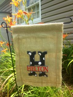 12x16 Burlap Garden Flag on Etsy, $15.00