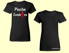 Women's Black Zombies Tee. Pincheshirts.com