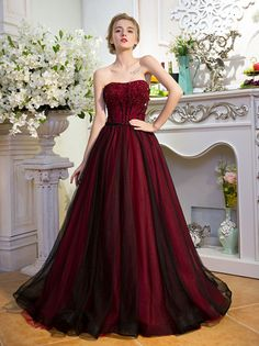 Ball Wedding Dress On Sale At Reasonable Prices Buy Major Beading Wine Red Black Veil Gown Medieval Renaissance Sissi Princess