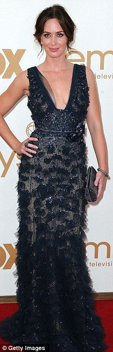 Emily Blunt in Elie Saab A/W 2011-2012 at the 63rd Emmy Awards, September 2011