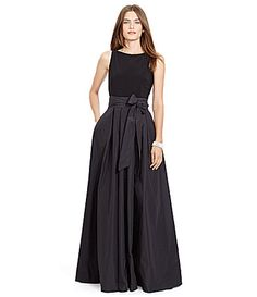 Lauren Ralph Lauren Taffeta Faille Jersey Combo Gown #Dillards