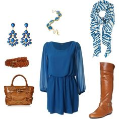 Feelin' blue, created by betsysauer1217.polyvore.com