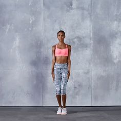 Train Like An Angel with Jasmine Tookes: Jumping Jacks are the classic (yet totally effective) way to warm up! Click ahead to see the full workout & shop Jasmine's looks. | Victoria's Secret Sport