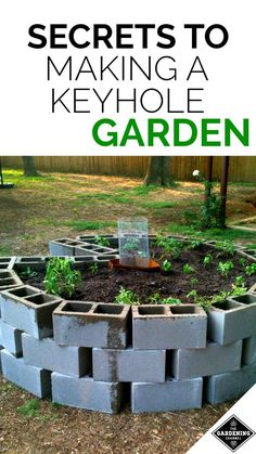 How to make a keyhole garden. If you live in a hot dry climate, this style of garden could be the key to success.