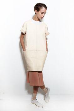 TITANIA INGLIS, Leather Tunic Dress  
