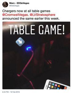 MeltzVegas Tweet USB Charges at Vegas Table Games