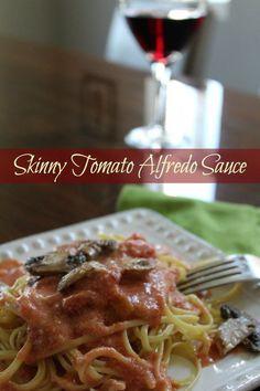 Skinny Tomato Alfredo Sauce Recipe from Having Fun Saving.