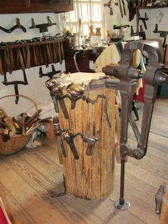Metalsmithing tools in Colonial Williamsburg!