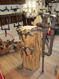 Metalsmithing tools in Colonial Williamsburg!