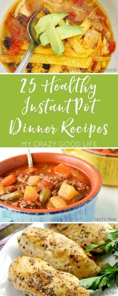 Eating healthy doesn't have to be time consuming or tasteless. Use these delicious Healthy Instant Pot recipes to save time and calories!  via @bludlum