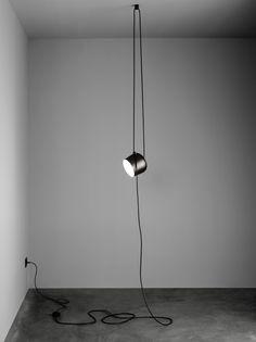 Lampe AIM Small LED - Ø 17 cm Noir - Flos