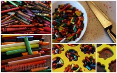 DIY crayons! Recycle broken pieces. Create them in different shapes and colors.