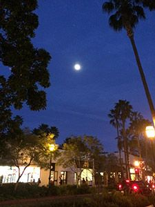 Santa Barbara seen by moonlight, as the Azamara Quest didn't depart until 10pm.