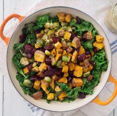 Sweet Potato, Sprout & Beet Salad | Deliciously Ella