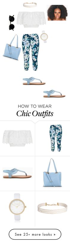 """""""cute day out"""" by kccukeziac on Polyvore featuring Rimini, Miguelina, New Look, Humble Chic and River Island"""